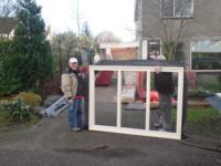 Aanbouw achter garage en bestaande garage verhogen ,Dinkelstraat 1, Almere