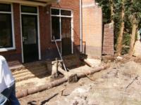 Aanbouw achter woning ,Van der Duyn van Maasdamstraat35, Hilversum