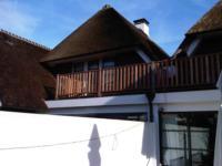 Hardhouten vlonder met hekwerk op dakterras ,Hanrathsingel 6 en 8, Laren