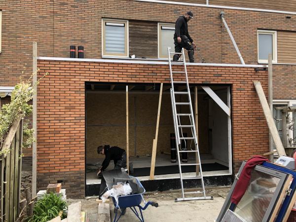 Aanbouw woning ,Louis Paul Boonstraat, Almere