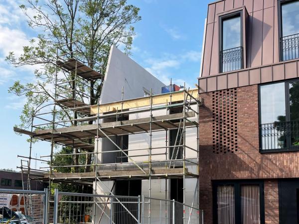 Nieuwbouw hoekwoning ,Simon Stevinstraat, Amsterdam