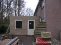 Aanbouw bijkeuken aan achterzijde woning ,Herenhof 23, Heerenveen