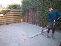 Aanleg betonvloer ,Rougestraat 14, Almere