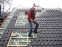 Aanbouw aan achterzijde woning en verhoging nok ,Frans Langeveldlaan 13, Laren NH